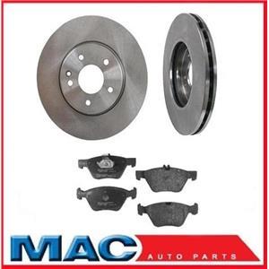 98-02 CLK320 (2) Front Brake Rotors & Ceramic Pads