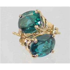 E002, Paraiba Topaz, 14k Gold Earrings