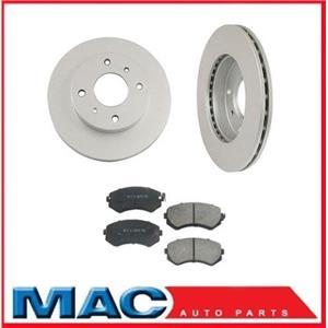 Frt Disc Brake Rotors and Brake Ceramic Pads for Nissan 240SX 89-96 With Out ABS