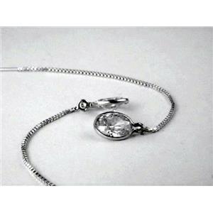 SE005, Cubic Zirconia Sterling Silver Earrings