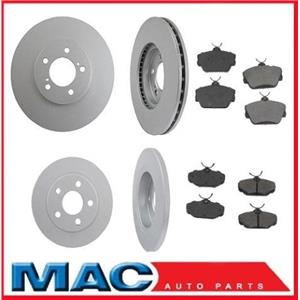 For 01-07 Ford Taurus With 4 Wheel Disc Brakes Frt & Rr Rotors & CERAMIC Pads 6p