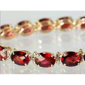 B002, Mozambique Garnet Gold Bracelet