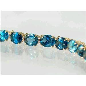B002, London Blue Topaz Gold Bracelet
