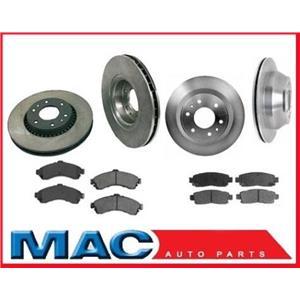 For 2002-2005 GM Trailblazer Ext Extended Wheel Base Model Rotors & Ceramic Pads