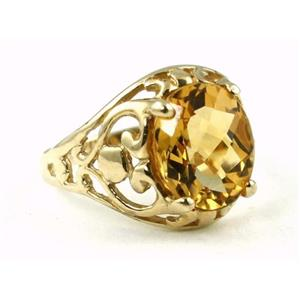 R004, Citrine, Gold Ring