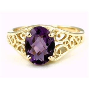 R005, Amethyst, Gold Ring