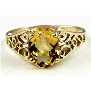 R005, Citrine, Gold Ring