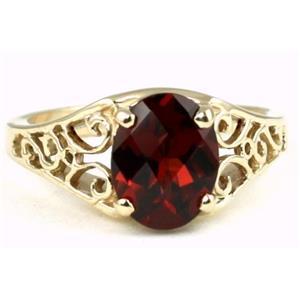 R005, Mozambique Garnet, Gold Ring
