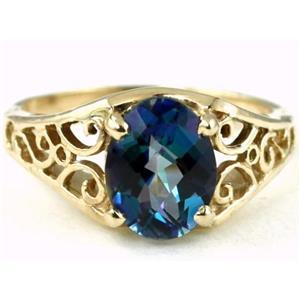 R005, Neptune Garden Topaz, Gold Ring