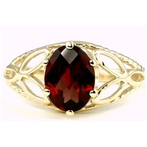 R137, Mozambique Garnet, Gold Ring