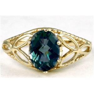 R137, Neptune Garden Topaz, Gold Ring
