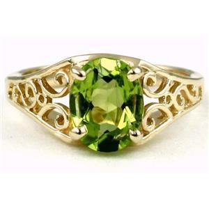 R005, Peridot, Gold Ring