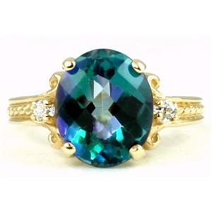 R136, Neptune Garden Topaz, Gold Ring