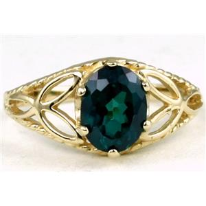 R137, Paraiba Topaz, Gold Ring