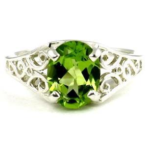 Peridot, 925 Sterling Silver Ring, SR005