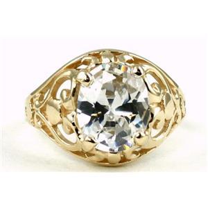 R004, Cubic Zirconia, Gold Ring