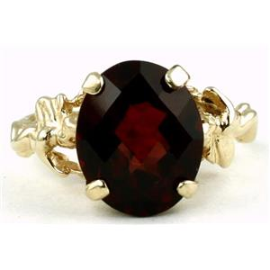 R154, Mozambique Garnet, Gold Angel Ring