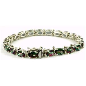 SB002, Mystic Fire Topaz, 925 Sterling Silver Bracelet