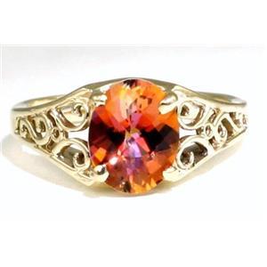 R005, Twilight Fire Topaz, Gold Ring
