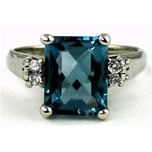 SR183, London Blue Topaz Sterling Silver Ring