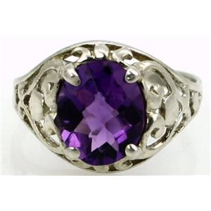 SR004, Amethyst, 925 Sterling Silver Ring