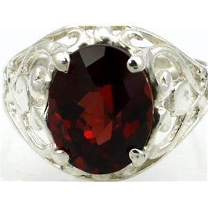 SR004, Mozambique Garnet, 925 Sterling Silver Ring