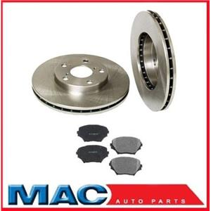 Fits For 2001-2005 Toyota Rav4 Front Brake Rotors & Ceramic Pads 3pc Kit