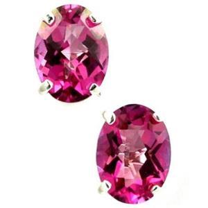 SE002, Pure Pink Topaz, 925 Sterling Silver Earrings