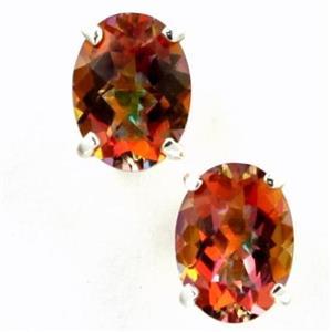SE002, Twilight Fire Topaz 925 Sterling Silver Earrings