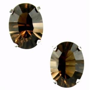 SE002, Smoky Quartz, 925 Sterling Silver Earrings