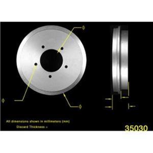 96 97 98 Suzuki Sidekick 4Dr 96 97 GEO Tracker 4Dr (2)  Rear Brake Drum Drums