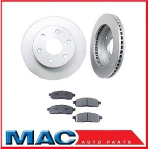 For 04-08  Ford F150 4x4 6 Stud (2) Front Brake Rotors & Ceramic Pads