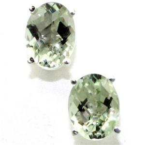 SE002, Green Amethyst, 925 Sterling Silver Earrings