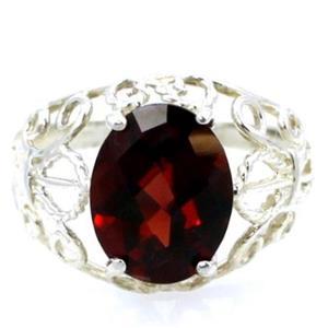 SR162, Mozambique Garnet, 925 Sterling Silver Ring