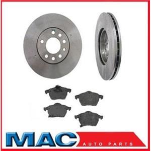 Front Brake Rotors (2) 34140 & 288MM Front CD800 Ceramic Brake Pads