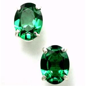 SE002, Russian Nanocrystal Emerald, 925 Silver Earrings