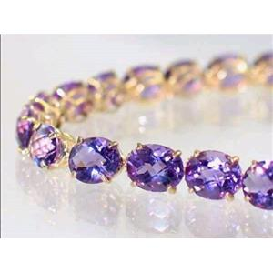 B003, Amethyst Gold Bracelet
