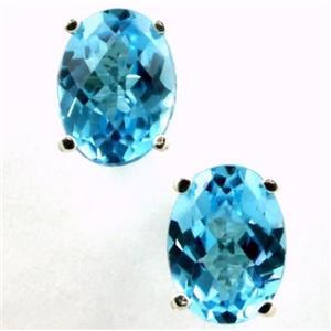 SE002, Swiss Blue Topaz, 925 Sterling Silver Earrings