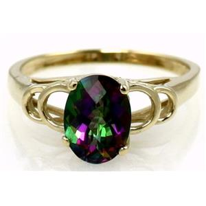 R300, Mystic Fire Topaz Gold Ring