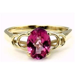 R300, Pure Pink Topaz Gold Ring