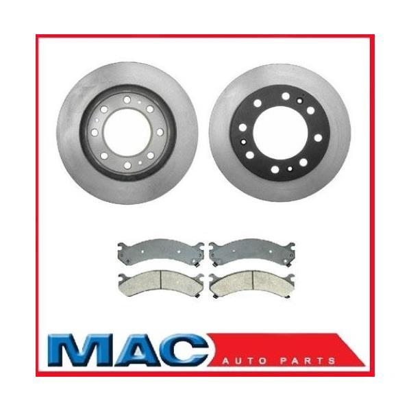 DTS 8 Stud H/D (2) Front Brake Rotors & Ceramic Pads