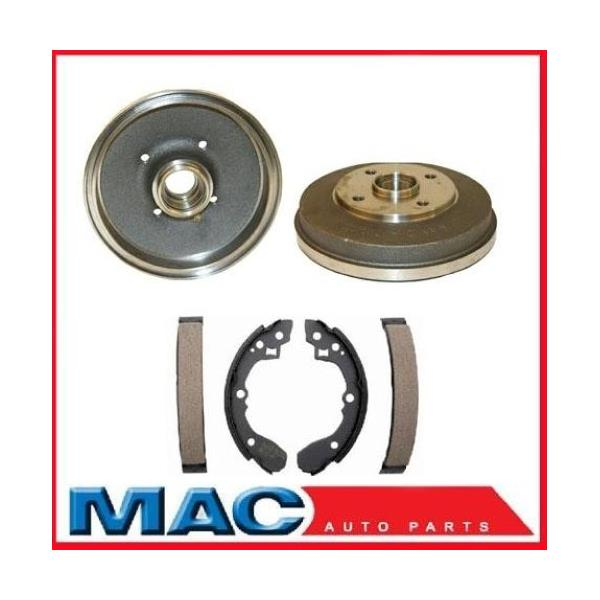 Rear Brake Drums and Shoes No ABS fits 01-02 Kia Rio