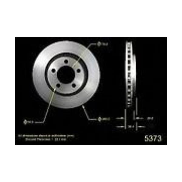 Premium Brand Chrysler 11 1/8 Inch Front Rotor 5373 Disc Brake Rotor