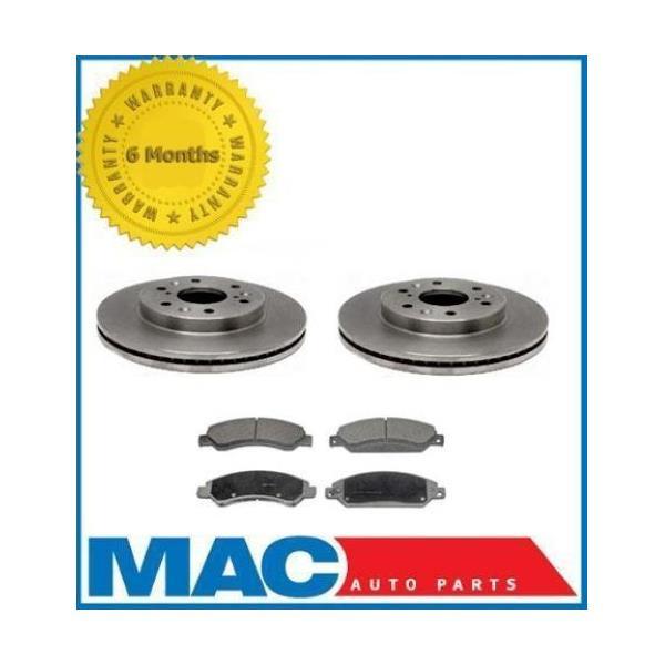 Fits For 05-07 Silverado 1500 (2) Front Brake Rotors & Ceramic Pads