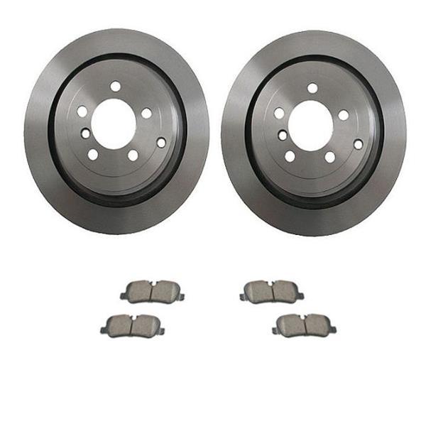 Disc Brake Rotor (2) Rear 34332 fits 06-12 Land Rover Range Rover Ceramic Pads