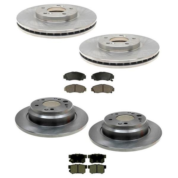 1999-2001 Acura 3.5RL RL Front and Rear Brake Rotors & Brake Pads