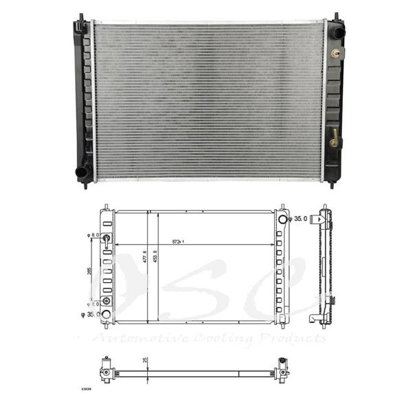 09-12 Murano 2011-2012 Quest 3.5L NEW OSC 13039 Radiator