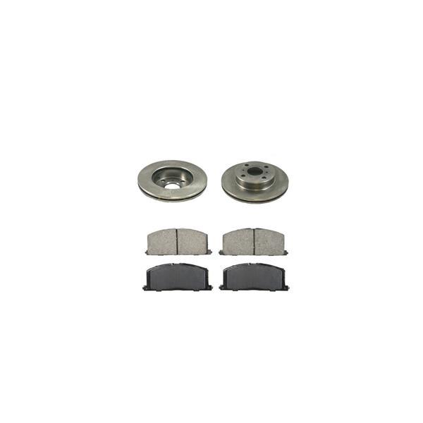 88 92 Corolla Front Brake Disc Rotors 3289 & CD242 CERAMIC Pads