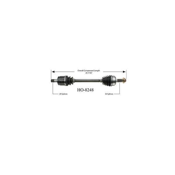 HO-8248 CV Joint Half Shaft Drivers Side Axle 05-08 RL 3.5L 09-12 TL 3.5L