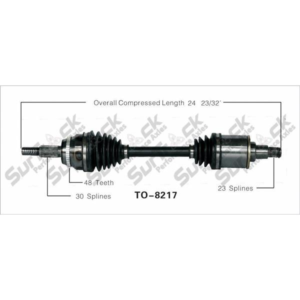 SurTrack TO-8217 CV Axle Shaft - New, Front Left Fits AWD Models Drivers Side